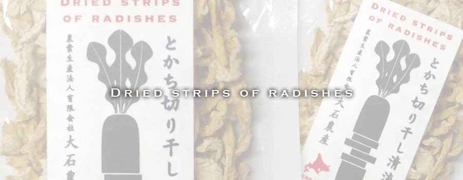 Dried Strips of radishes